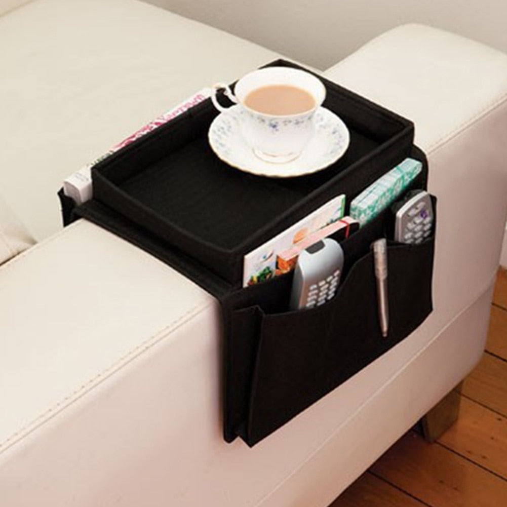 ARM REST ORGANIZER U2013 6 POCKETS COUCH ARM TABLE