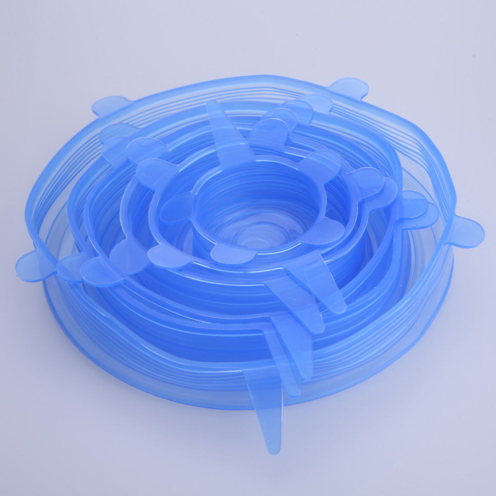 6PCS/Set Universal Silicone Stretch