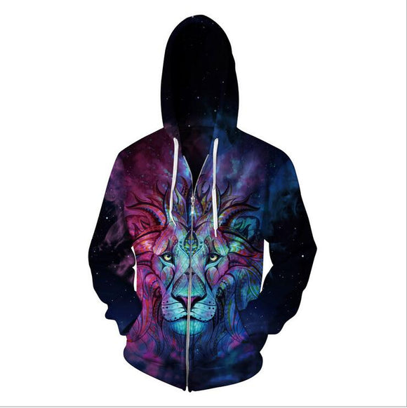 Lion King 3D Hooded Zipper
