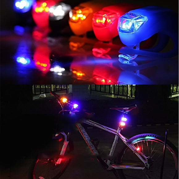 LED Silicone Head Front & Rear Lights