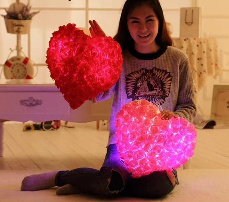 LED Love Heart Pillow