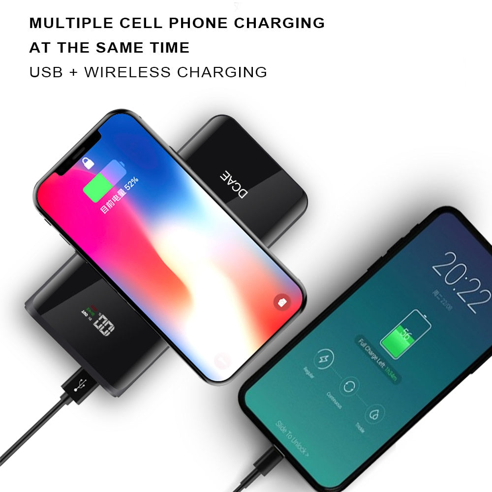 WIRELESS POWER BANK PORTABLE CHARGER