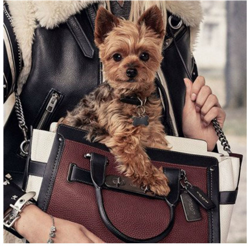 Pet Handbag Traveling Leather Dog Carrier
