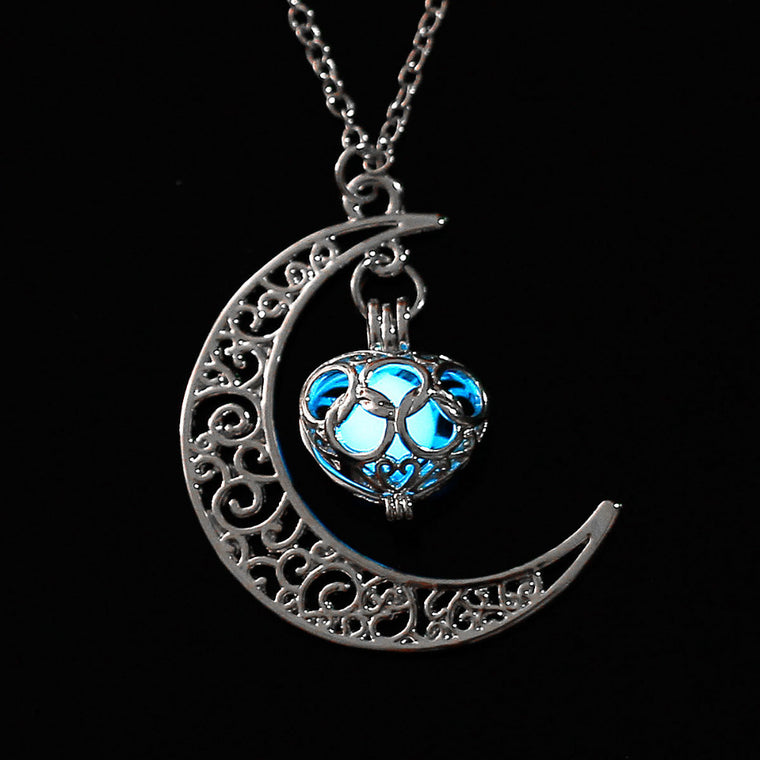 Half Moon Love Heart Silver