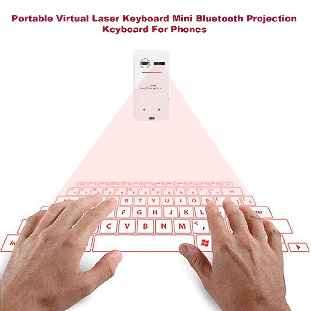 Portable Bluetooth Wireless Laser Keyboard