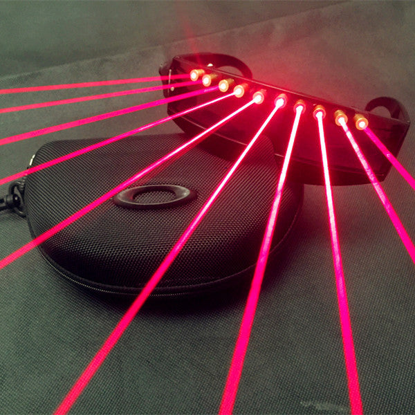 Led Mask Quick Flashing Wireless Laser Glasses