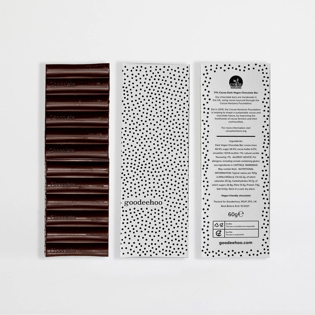 Sustainably Sourced Vegan Chocolate Bar 60g