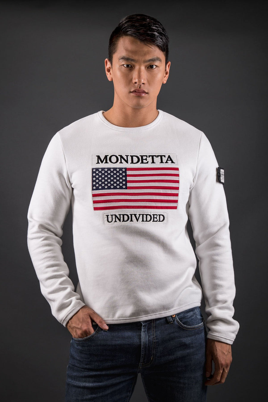 Homage Men's Classic Fit Sweater - USA - White