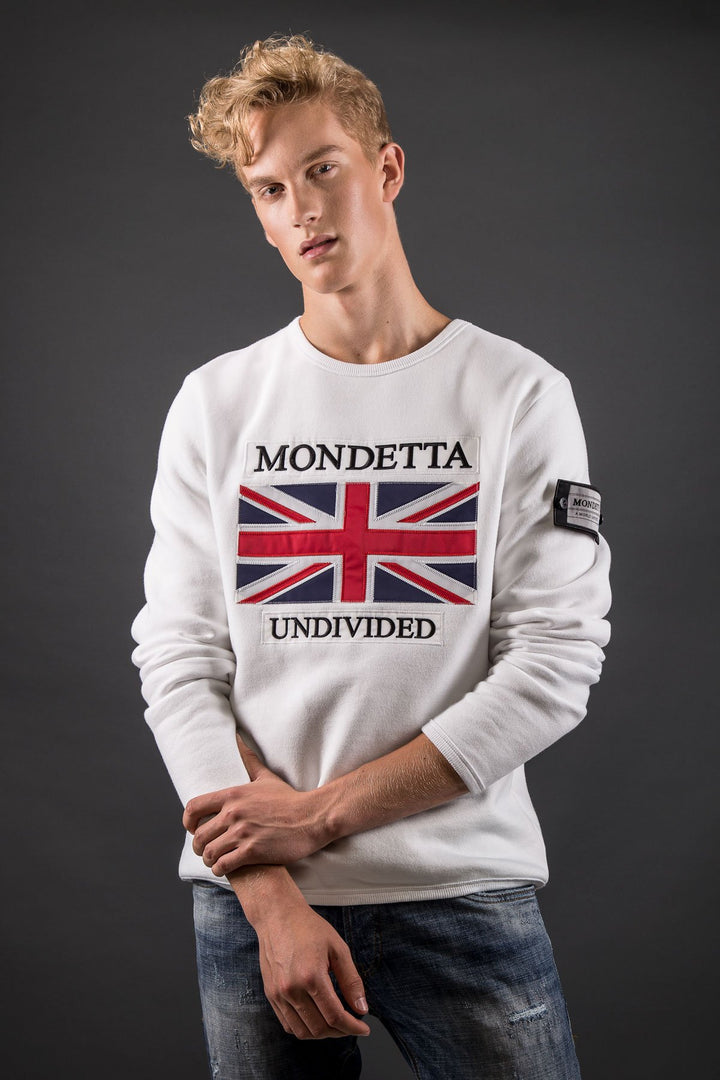Homage Men's Classic Fit Sweater - Great Britain -White
