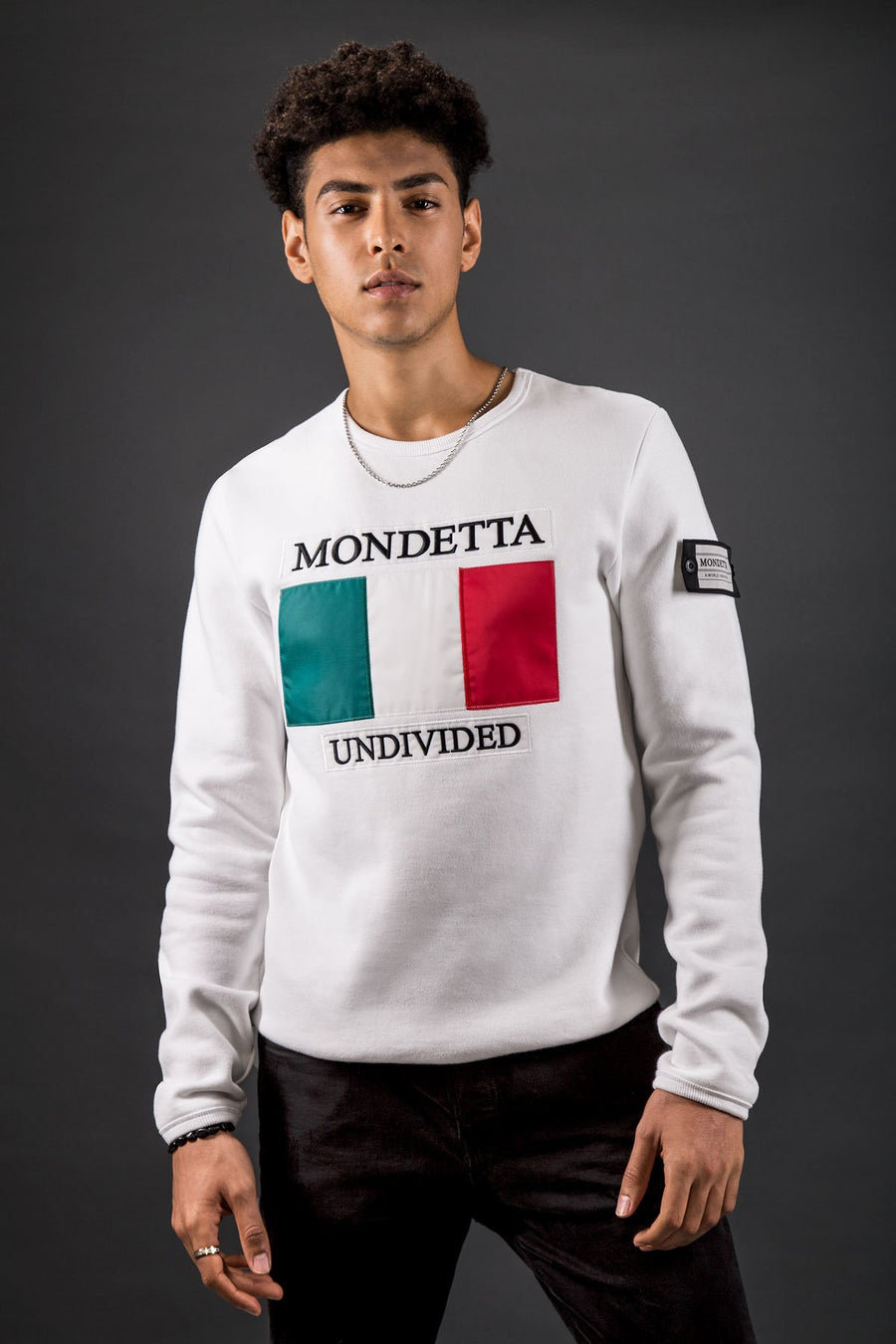 Homage Men's Classic Fit Sweater - Italy - White