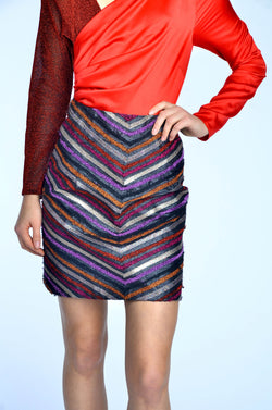 Striped Glitter Skirt
