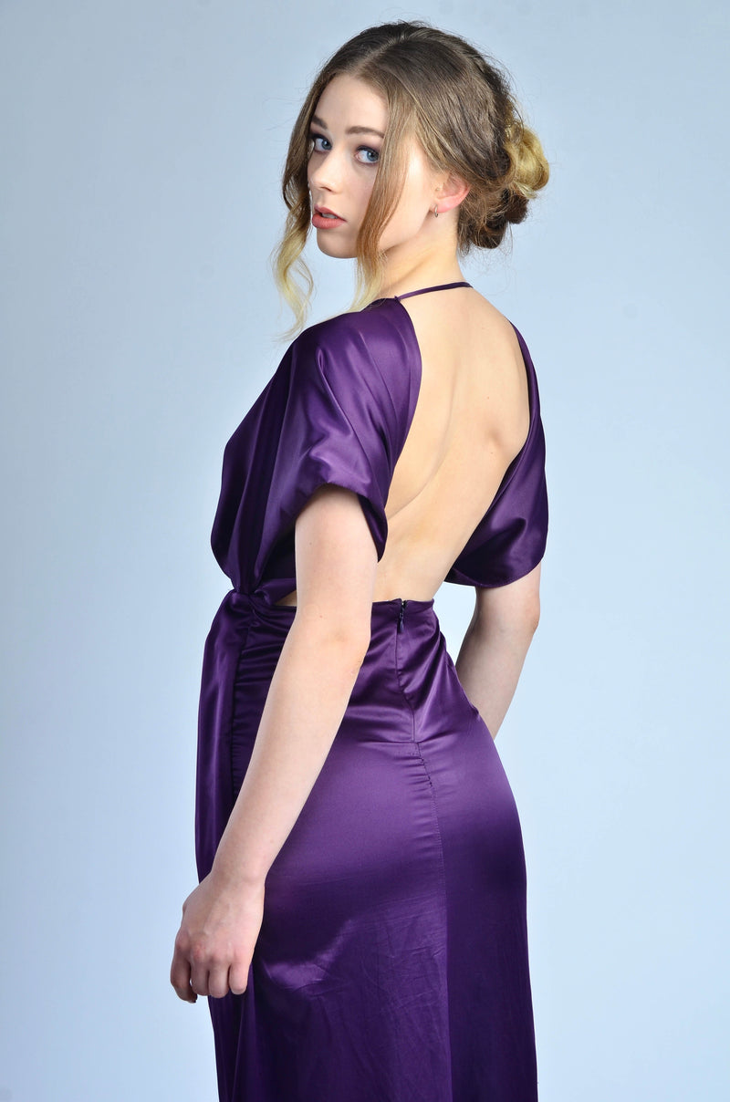 Purple Backless Dress