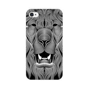 Wavy Lion Apple iPhone 4s Mobile Back Case