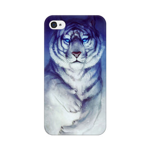 White Tiger Apple iPhone 4s Mobile Back Case