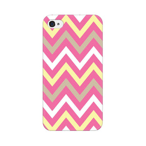 Yellow And Pink Broad Chevron Apple iPhone 4s Mobile Back Case