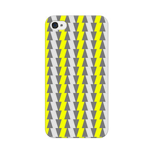 Yellow And White Cards Apple iPhone 4s Mobile Back Case