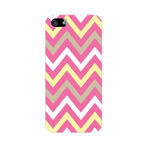 Yellow And Pink Broad Chevron Apple iPhone 5s Mobile Back Case