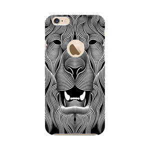 Wavy Lion Apple Apple iPhone 6s with Apple hole Mobile Back Case