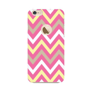 Yellow And Pink Broad Chevron Apple Apple iPhone 6s with Apple hole Mobile Back Case