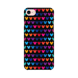Mickie Mulitcolor On Black Apple iPhone 8 Mobile Back Case