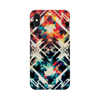 Two Square Abstract Apple iPhone X Mobile Back Case