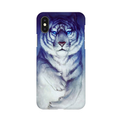 White Tiger Apple iPhone X Mobile Back Case