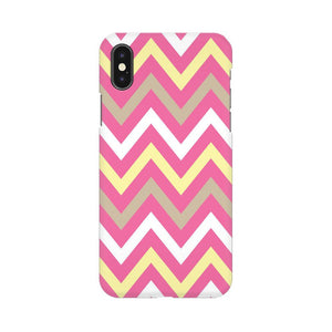 Yellow And Pink Broad Chevron Apple iPhone X Mobile Back Case