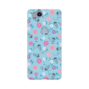 Floral Girly Wall Google Pixel 2 Mobile Back Case