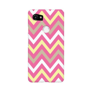 Yellow And Pink Broad Chevron Google Pixel XL 2 Mobile Back Case