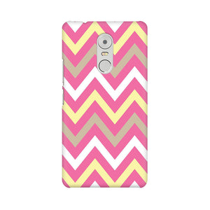 Yellow And Pink Broad Chevron Lenovo K6 Note  Mobile Back Case