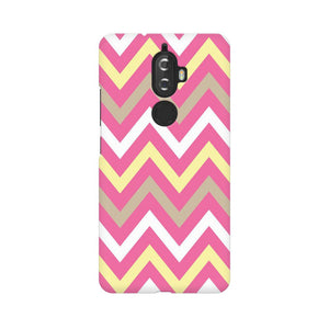 Yellow And Pink Broad Chevron Lenovo K8 Plus  Mobile Back Case