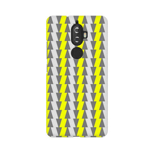 Yellow And White Cards Lenovo K8 Plus  Mobile Back Case