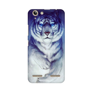 White Tiger Lenovo Vibe K5 Plus  Mobile Back Case