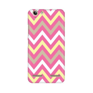 Yellow And Pink Broad Chevron Lenovo Vibe K5 Plus  Mobile Back Case