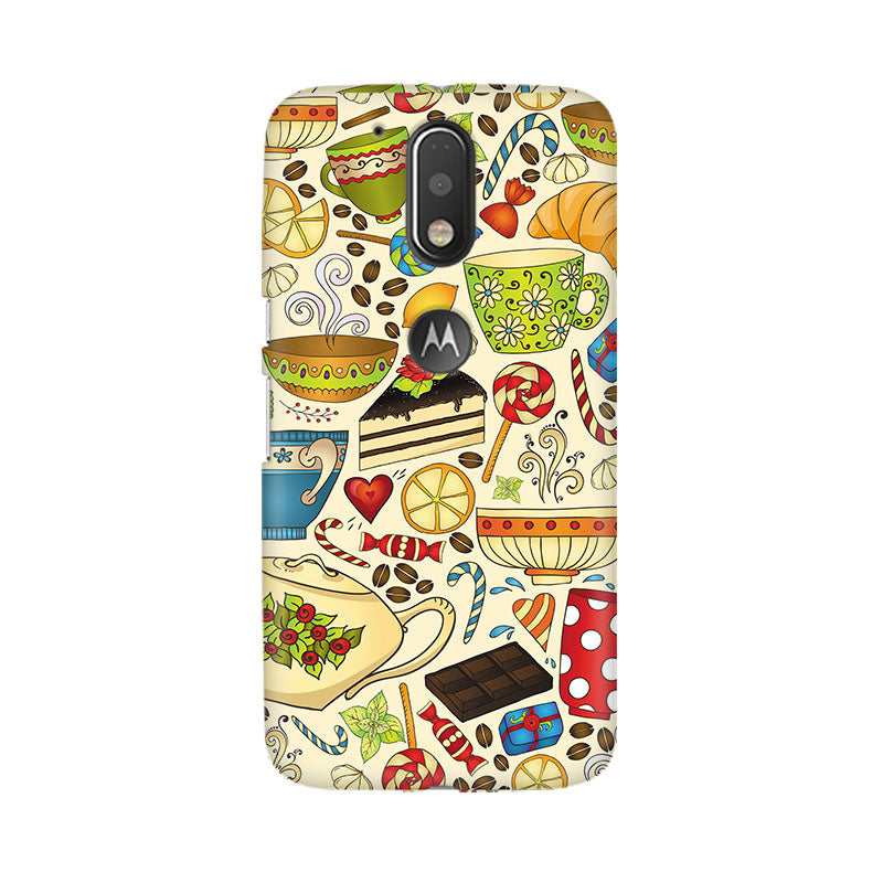 Abstract Tea Party Moto G4 Plus Mobile Back Case - JumboShoppers