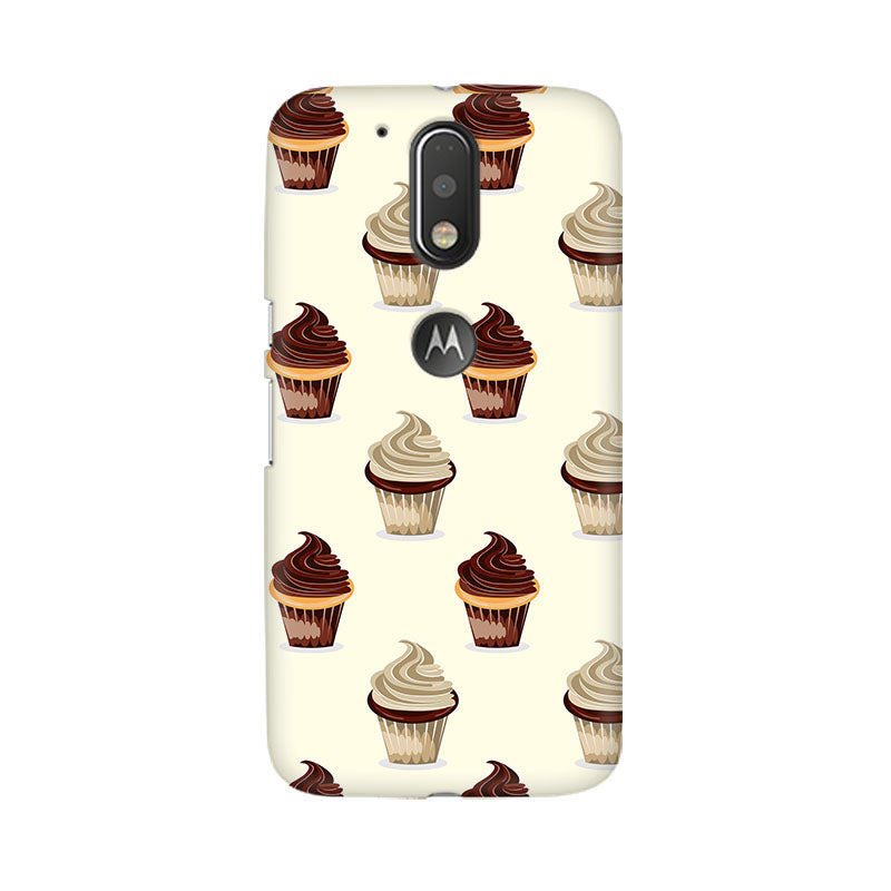 Black And White Cupcakes Moto G4 Plus Mobile Back Case - JumboShoppers