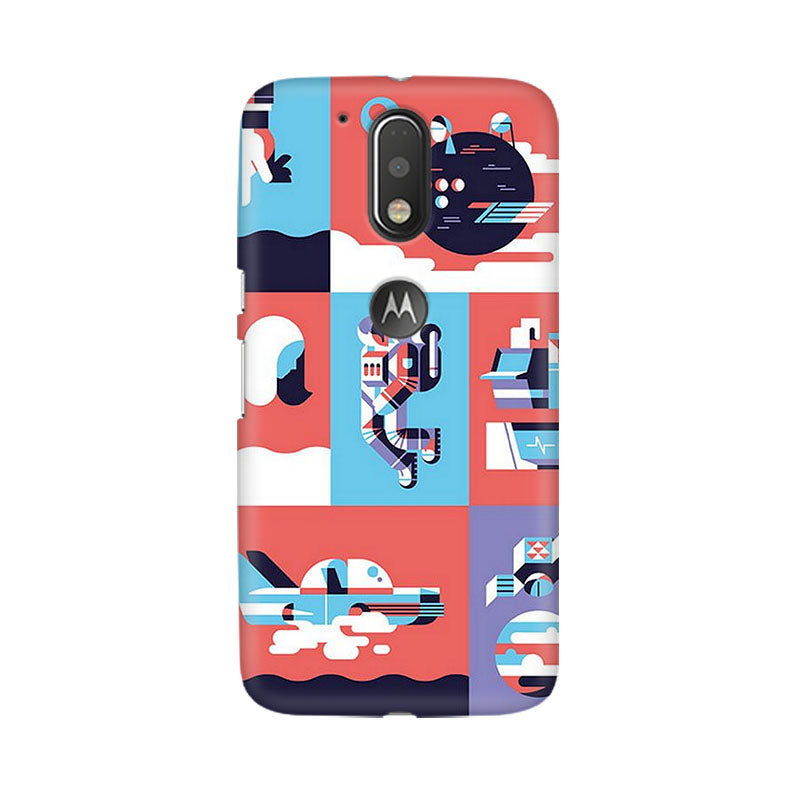 Abstract Travel Moto G4 Plus Mobile Back Case - JumboShoppers