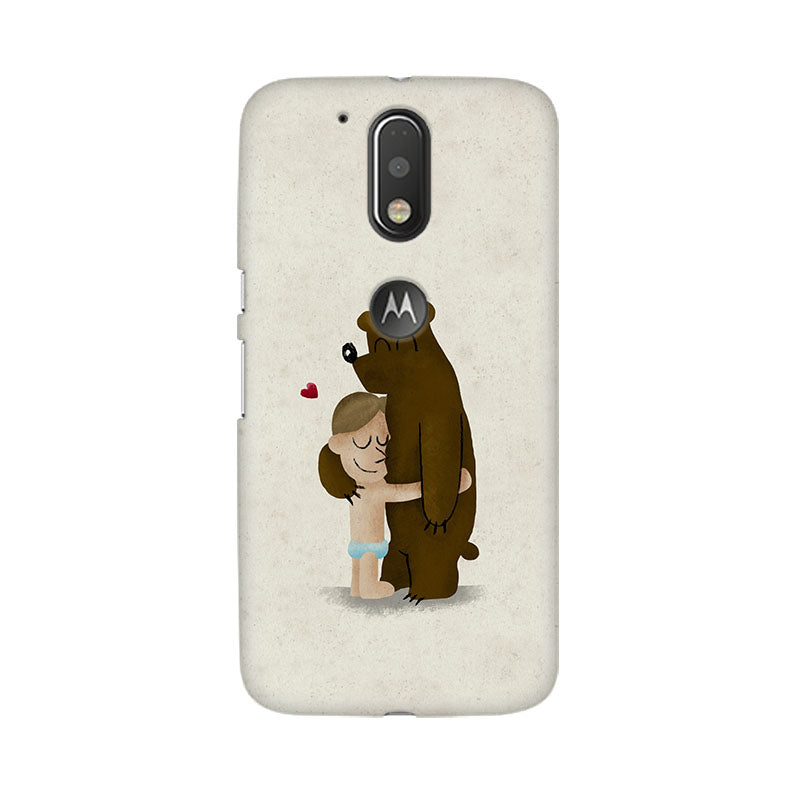 Bear Hug Moto G4 Plus Mobile Back Case - JumboShoppers
