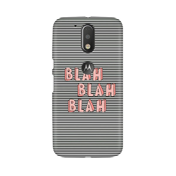 Blah Blah Classy Moto G4 Plus Mobile Back Case - JumboShoppers