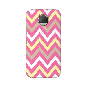 Yellow And Pink Broad Chevron Moto G5s Plus  Mobile Back Case