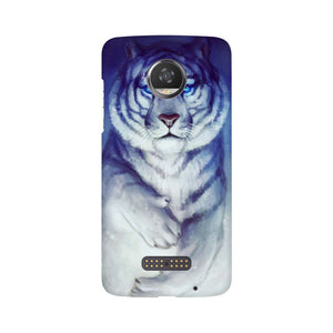 White Tiger Moto Z2 Play  Mobile Back Case