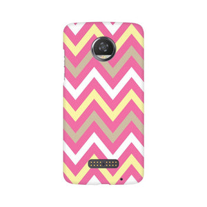 Yellow And Pink Broad Chevron Moto Z2 Play  Mobile Back Case