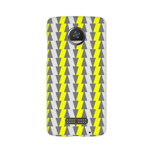 Yellow And White Cards Moto Z2 Play  Mobile Back Case