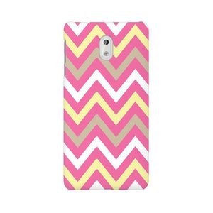 Yellow And Pink Broad Chevron Nokia 3 Mobile Back Case