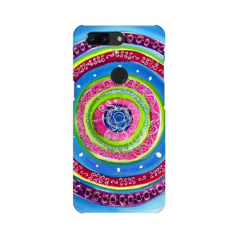 Concentric Circle Doodle OnePlus 5T Mobile Back Case - JumboShoppers