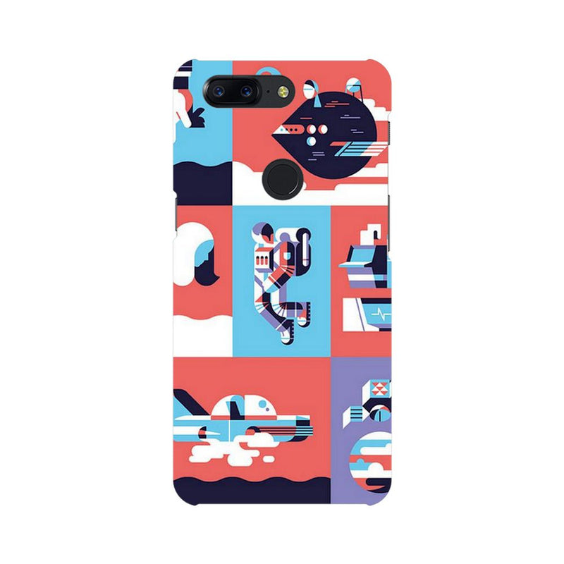 Abstract Travel OnePlus 5T Mobile Back Case - JumboShoppers