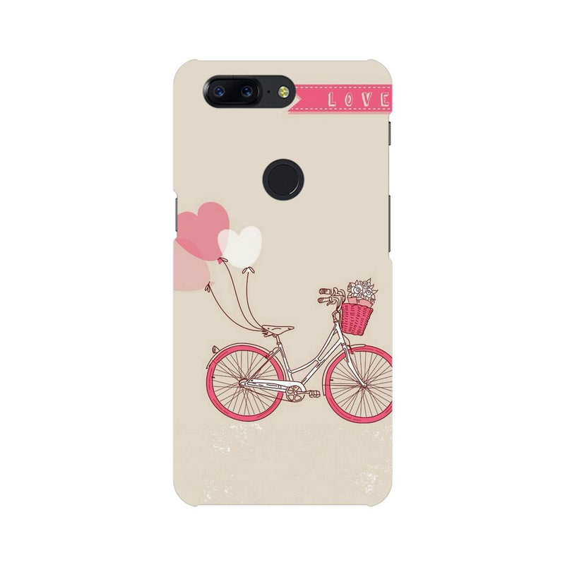 Bicycle Love OnePlus 5T Mobile Back Case - JumboShoppers