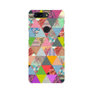 Colorful Triangles OnePlus 5T Mobile Back Case