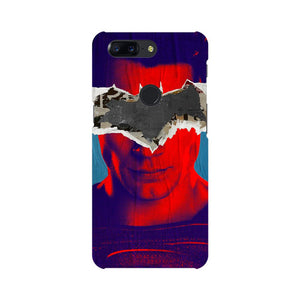 Superman With Batman Logo OnePlus 5T Mobile Back Case