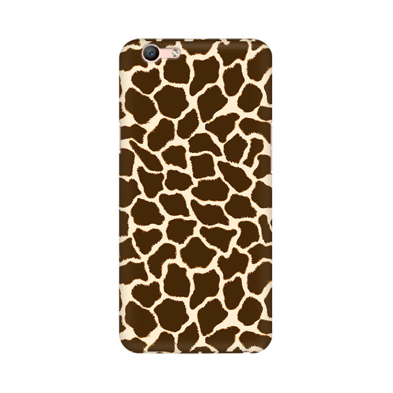 Cheetah Print Oppo F1s Mobile Back Case - JumboShoppers
